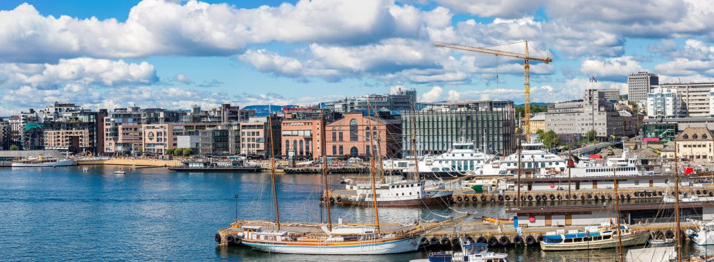 Oslo in Norway. Harbor is one of Oslo's great attractions. Situated on the Oslo Fjord